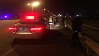 Karaman'da Bariyere Çarpan Genç Yaralandı