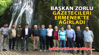 Başkan Atilla Zorlu, Gazetecileri Ermenek'te Ağırladı