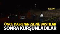 Karaman'da gece yarısı yine bir ev kurşunlandı