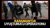 Karaman'da uyuşturucu operasyonu, 3 kişi adliyede