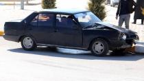Karaman'da bir sürücü kaza sonrası şoka girdi