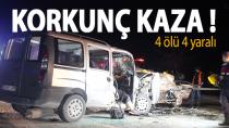 Karaman Konya yolunda feci kaza 4 ölü 4 yaralı