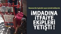 Karaman'da 4 gündür sulama kanalında mahsur kalmıştı