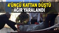Karaman'da yüksekten düşen genç ağır yaralandı