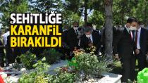 Karaman'da 15 Temmuz programı kapsamında şehitlik ziyaret edildi