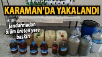 Karaman'da jandarmadan ölüm üreten yere operasyon