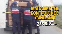 Karaman'da yol kontrol esnasında jandarmaya yakalandılar