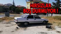 Karaman'da hırsızlar otomobilin teybini çaldı