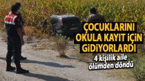 Karaman'da mısır tarlasına uçan otomobilde, aynı aileden 3 kişi yaralandı