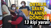 Karaman'da ortalık savaş alanına döndü ! 13 yaralı