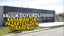 Karaman İl Hıfzıssıhha Meclisi yeni kararları açıkladı