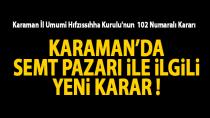 Karaman'da semt pazarı ile ilgili yeni gelişme