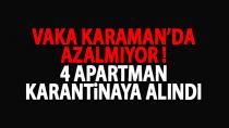 Karaman'da 4 apartman karantinaya alındı