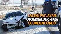 Karaman'da lastiği patlayan otomobil kaza yaptı! 4 kişi yaralandı