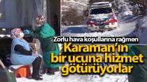 Karaman'da filyasyon ekipleri karlı dağları aşıp, hastalara ulaşıyor