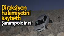 Karaman'da şarampole inen otomobil sürücüsü yaralandı