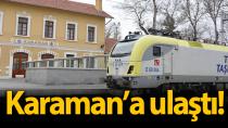 Hızlı tren teknik test aracı Karaman'a geldi!