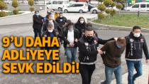 Karaman'da şafak operasyonunda alınan şüphelilerden 9 kişi daha adliyede