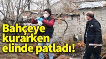 Karaman'da bahçeye tuzak kurmak isteyen bir kişi elinden yaralandı